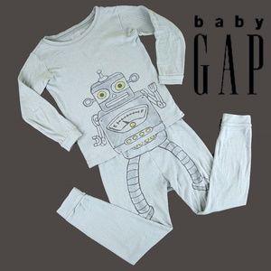 Baby Gap Robot cotton pj's Set